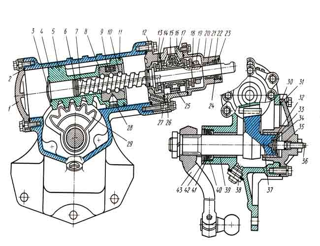 Описание устройства неисправностей и ремонта ГУР автомобиля ЗИЛ-130